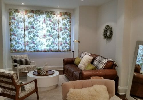 Roman Shades Installed at S. S. Residence – High Park, Toronto