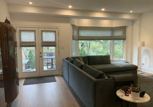 Custom Drapes and Custom Window coverings Installed at M Residence-Kleinburg Village