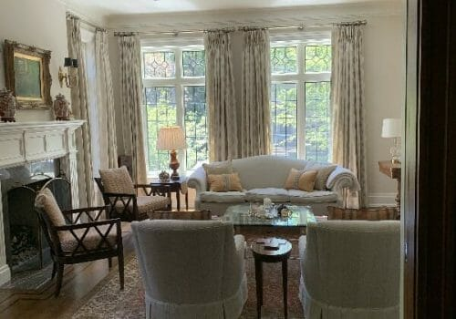 Custom Window Coverings and Roman Shades Installed at W Residence-Lawrence Park